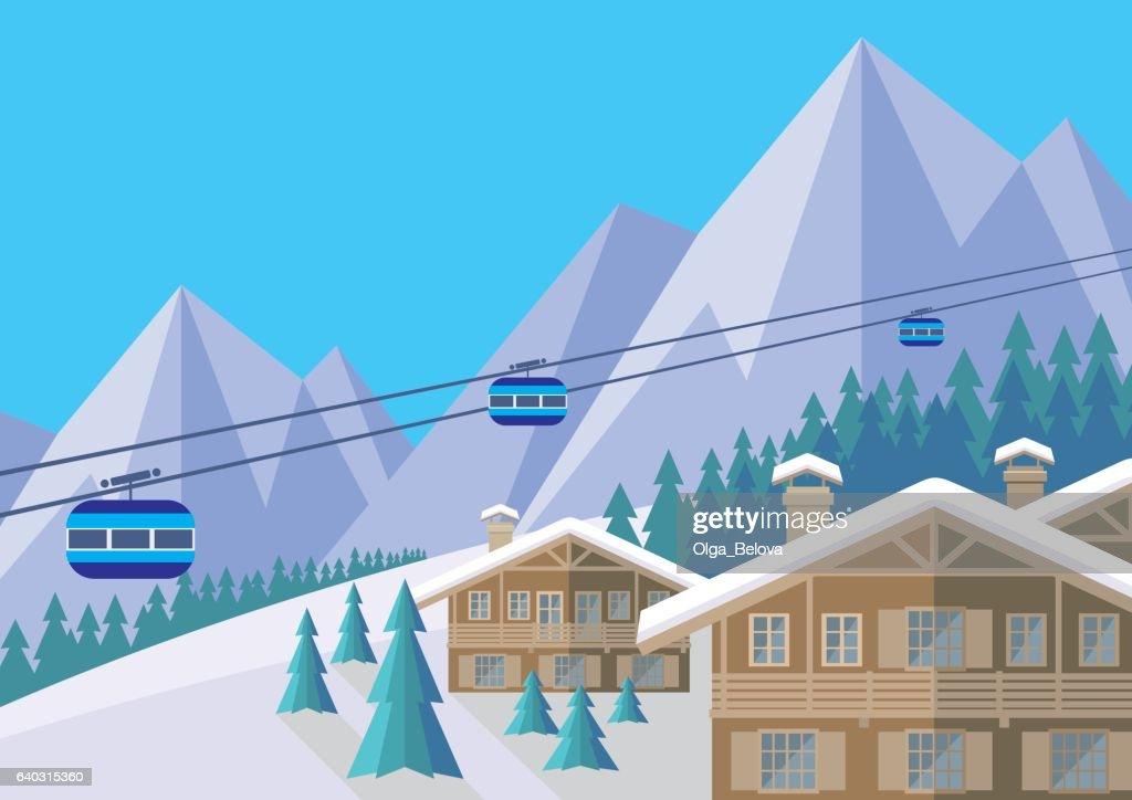 ski resort day