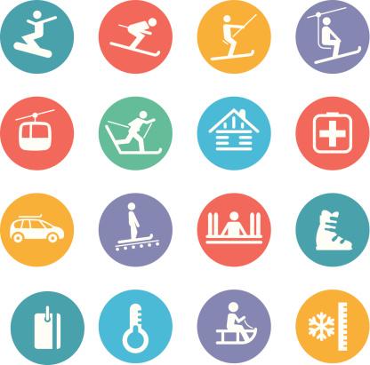 Ski resort Icons - gettyimageskorea