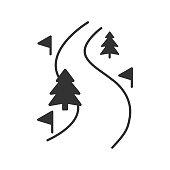 Ski route icon