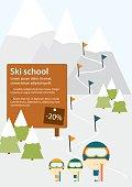 Ski school advertisement