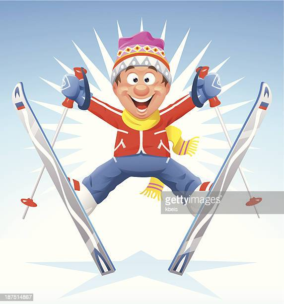 illustrations, cliparts, dessins animés et icônes de étoiles de ski - ski humour