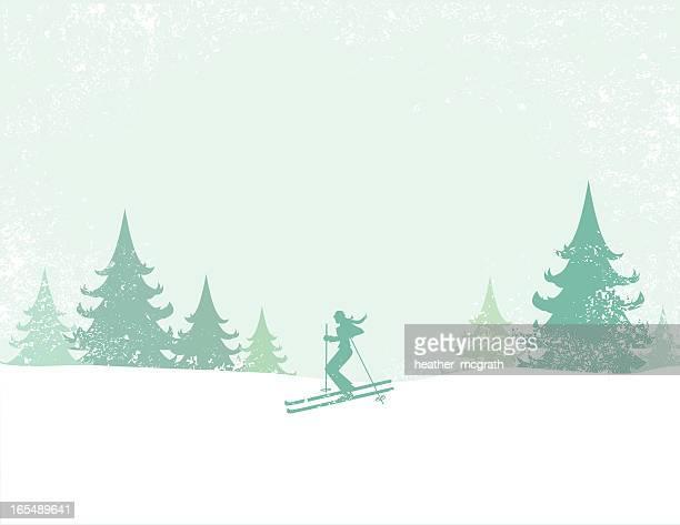 ski - ski slope stock illustrations, clip art, cartoons, & icons