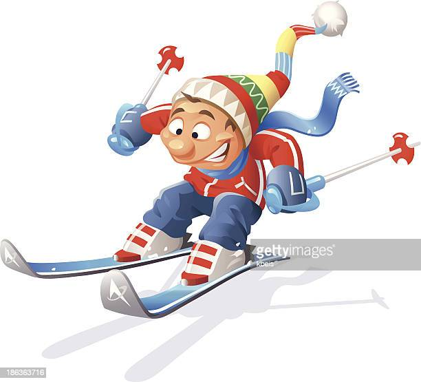 illustrations, cliparts, dessins animés et icônes de skieur - ski humour
