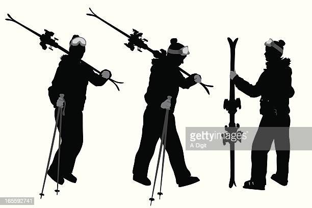 illustrations, cliparts, dessins animés et icônes de skieur - ski alpin