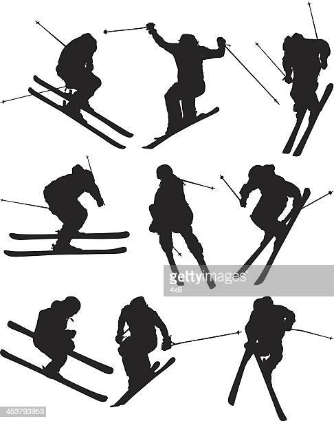 skiers in action