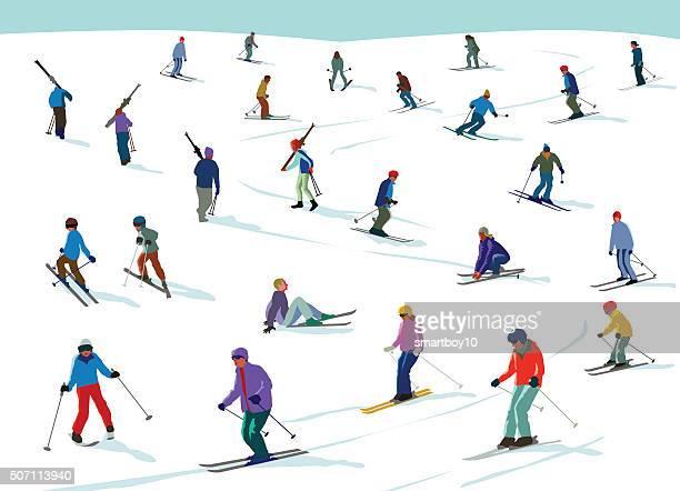 60点のスキー場のイラスト素材クリップアート素材マンガ素材