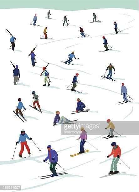 illustrations, cliparts, dessins animés et icônes de ski amusant - ski alpin