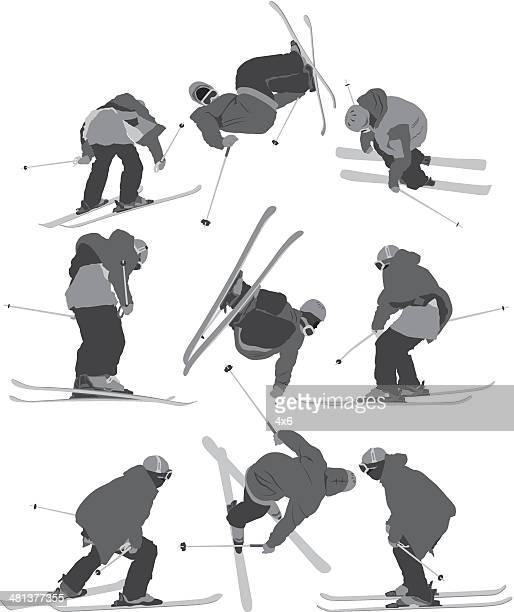 skiing - motorcycle helmet isolated stock illustrations, clip art, cartoons, & icons
