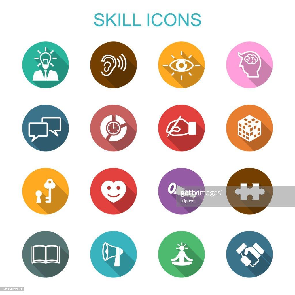 skill long shadow icons