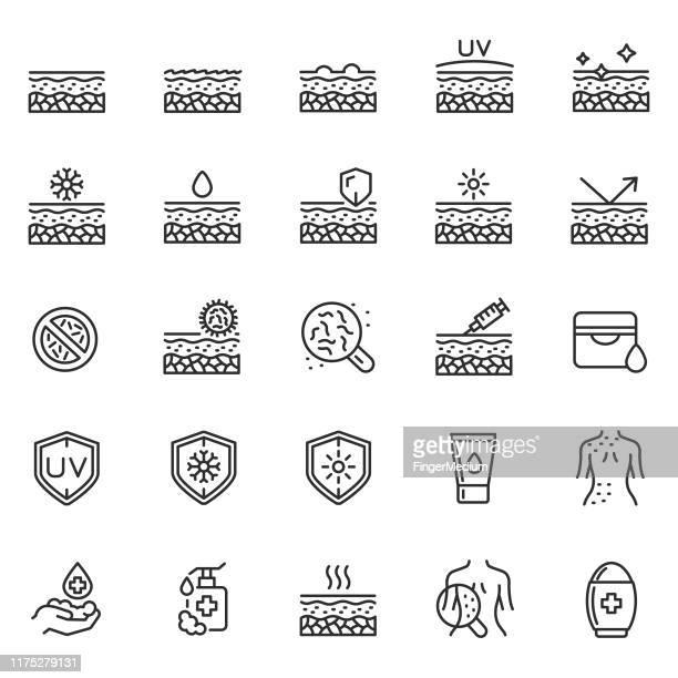 hautpflege-symbol-set - nass stock-grafiken, -clipart, -cartoons und -symbole