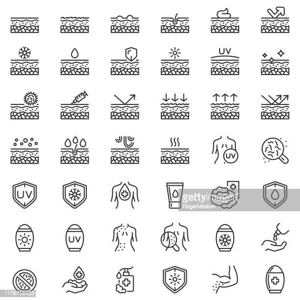 skin care icon set - condition stock illustrations