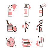 Skin care icons