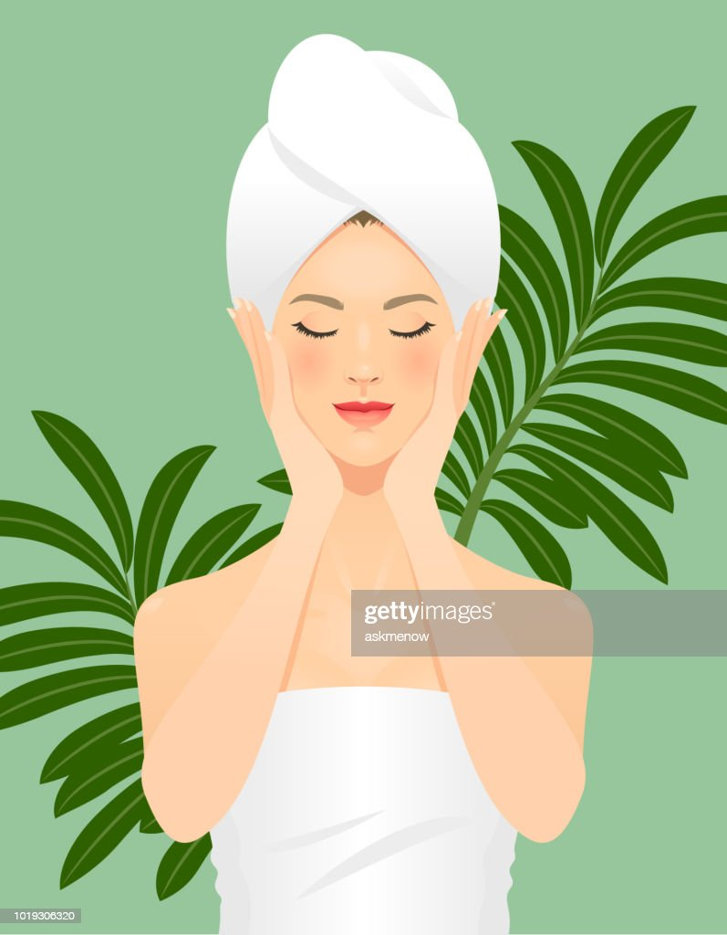 Skin care : stock illustration