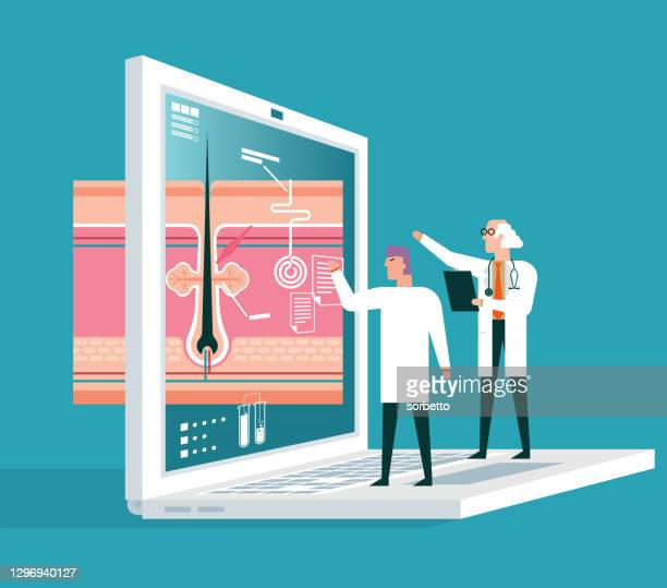skin - laptop - dermis stock illustrations