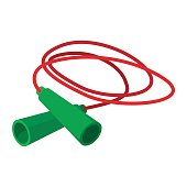 Skipping rope cartoon icon