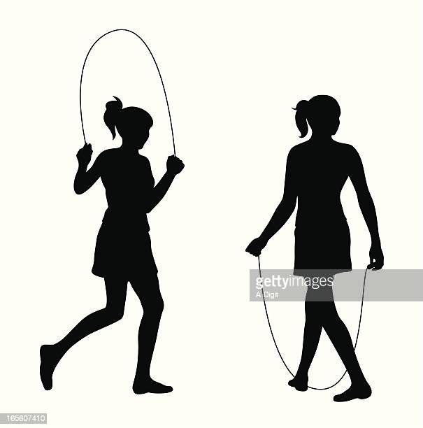 Skipping Rope Vector Silhouette