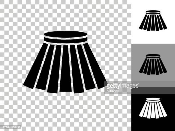 skirt icon on checkerboard transparent background - ankle length stock illustrations