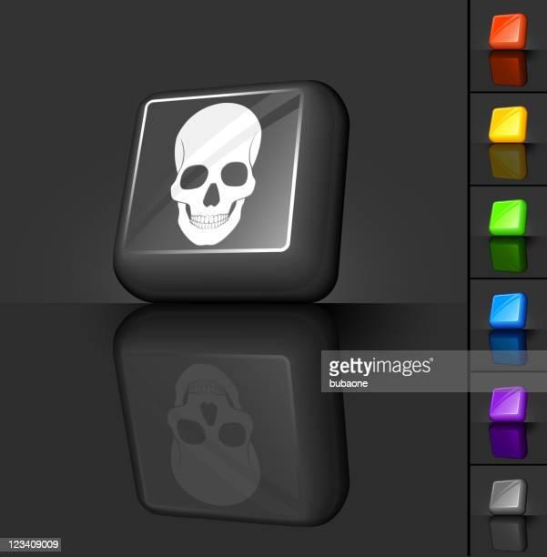 Cráneo botón 3D de diseño