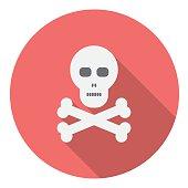 Skull And Bones Flat Icon