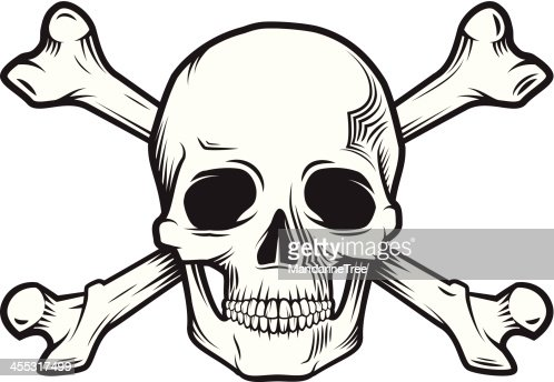 skull and bones vector art | getty images