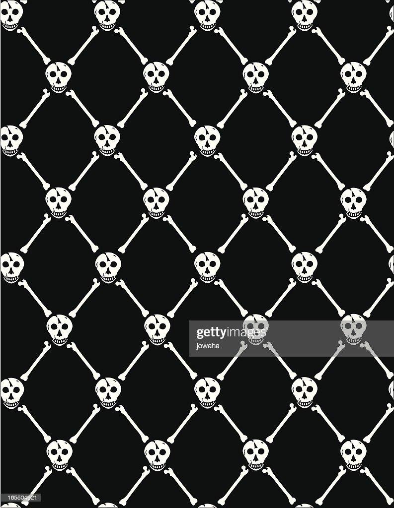 スカルと骨の壁紙 ストックイラストレーション Getty Images