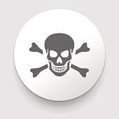 Skull and crossbones - a mark of the danger