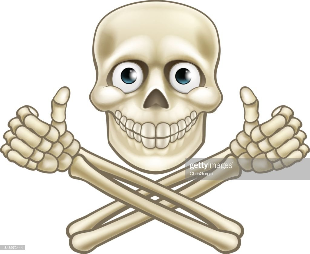 Skull and Crossbones Giving Thumbs Up