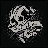 Skull and Ribbon