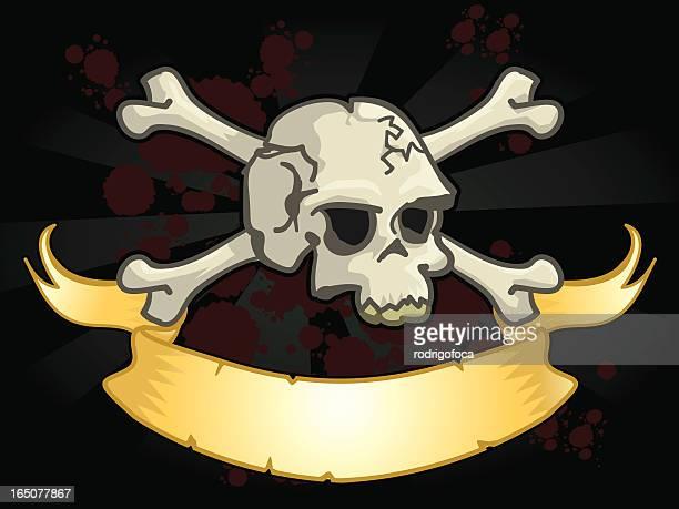 Skull, Crossbones and Ribbon