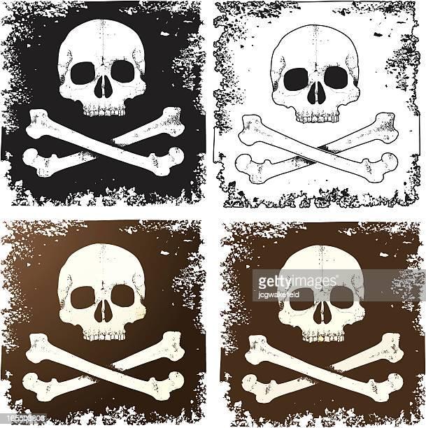 skull & crossbones - bones stock illustrations, clip art, cartoons, & icons