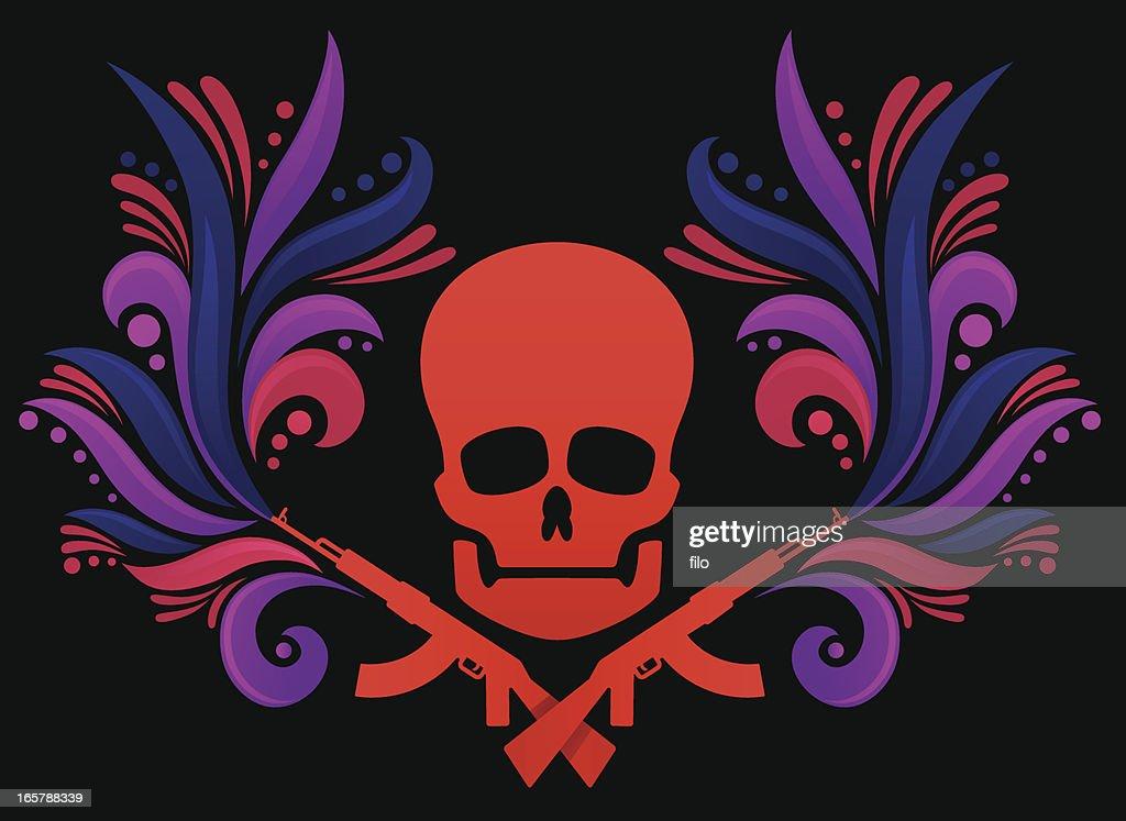 La decoración de cráneo : Ilustración de stock