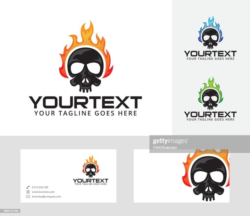 Skull Fire vector illustration