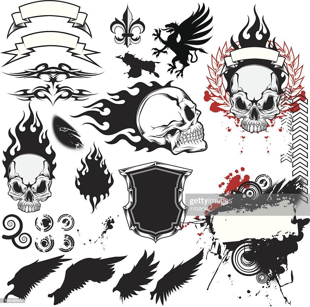 skull fragments