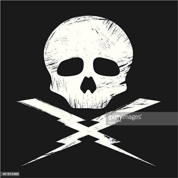ilustraciones, imágenes clip art, dibujos animados e iconos de stock de cráneo grunge - modelos del cuerpo humano