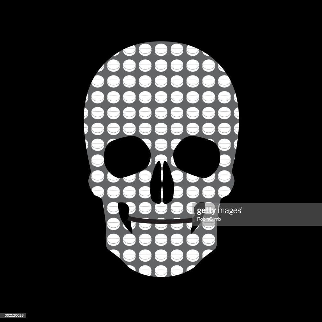 Skull Head Pills Icon