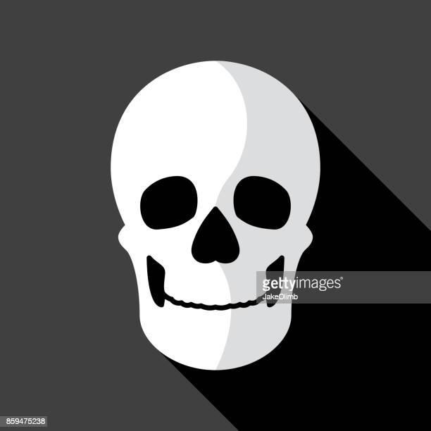 skull icon flat - murder stock illustrations, clip art, cartoons, & icons