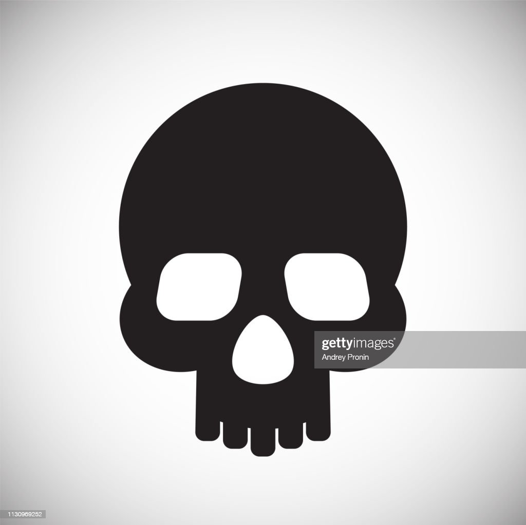 Skull icon on white background for graphic and web design, Modern simple vector sign. Internet concept. Trendy symbol for website design web button or mobile app.