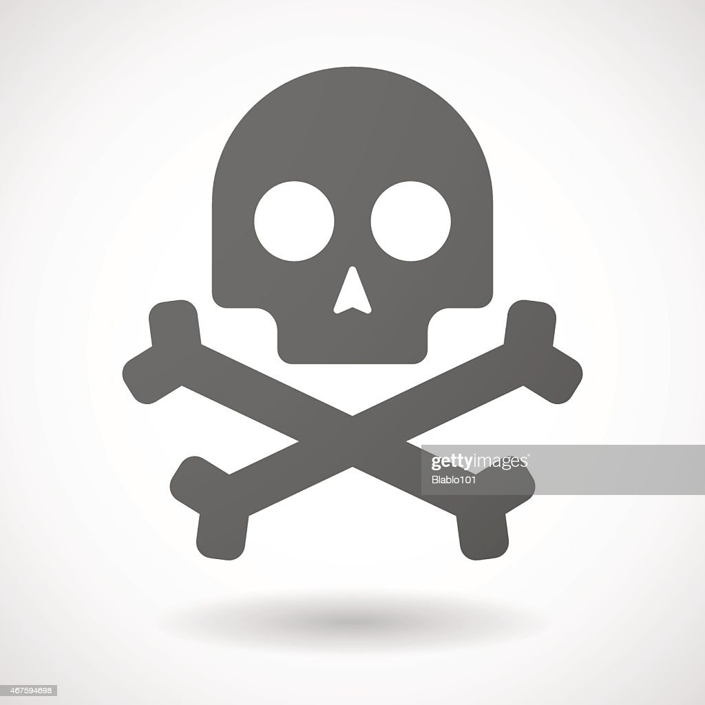 skull  icon on white background
