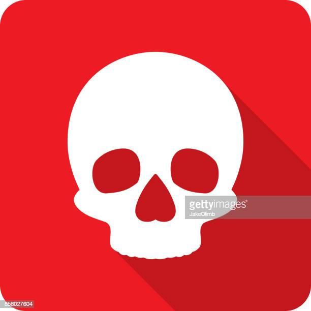 skull icon silhouette 2 - death stock illustrations