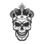 Skull in the crown