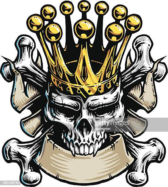 スカルキング - 海賊旗点のイラスト素材/クリップアート素材/マンガ素材/アイコン素材