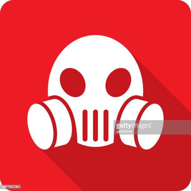 skull mask icon silhouette - medical ventilator stock illustrations, clip art, cartoons, & icons