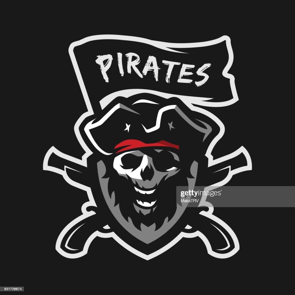 Skull of captain of pirates.