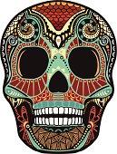 skull ornament (colored)