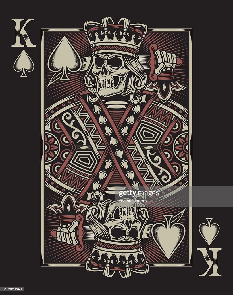 Skull Playing Card