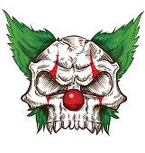 skull sketch design on background