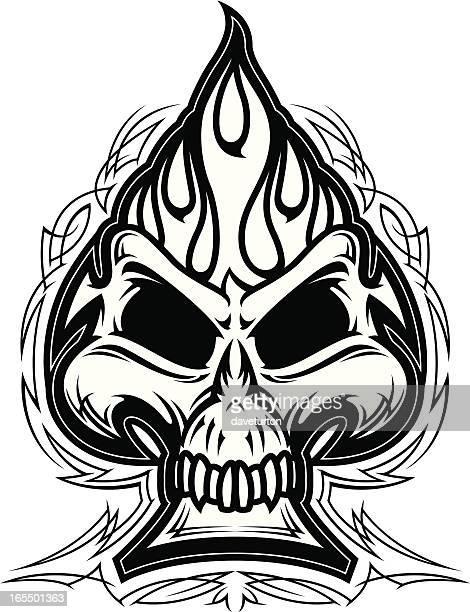 Skull Spade B&W