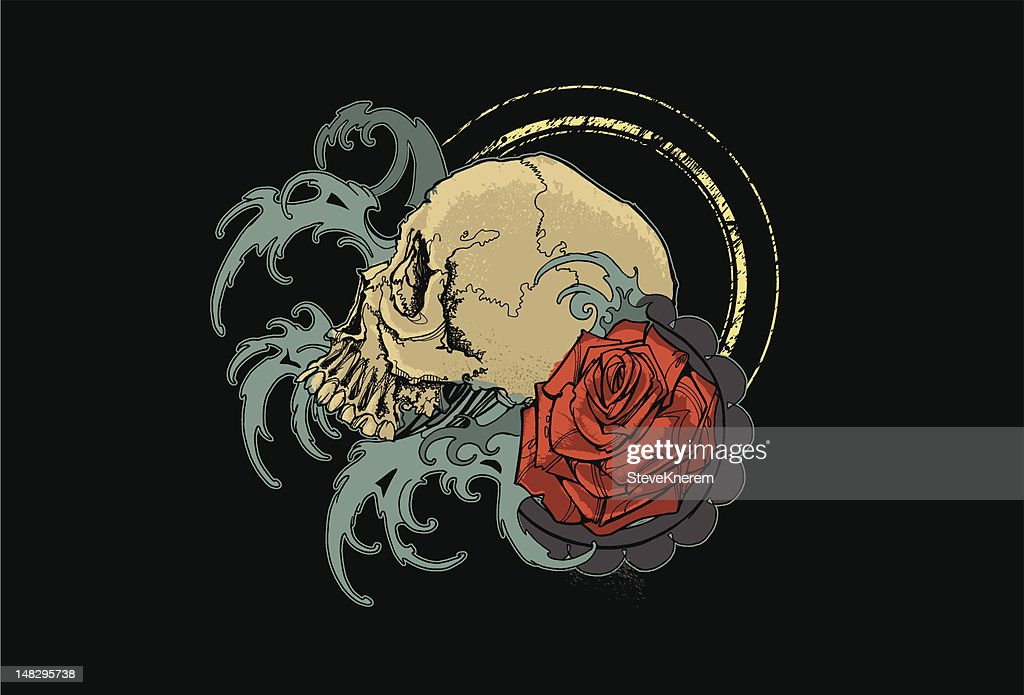 Skull, Water and Rose
