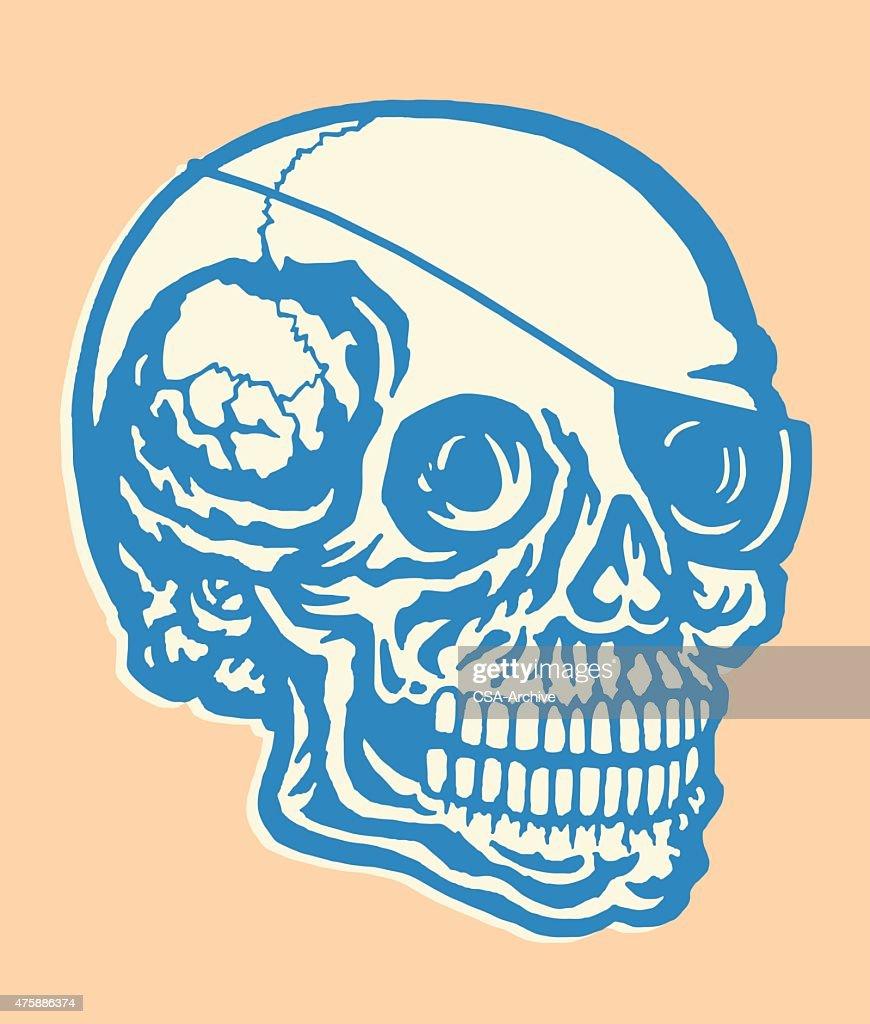 Skull Wearing Eye Patch