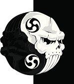 Skull yinyang